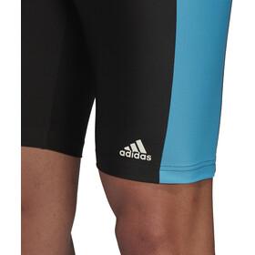 adidas Fit 3Second Caleçon de bain Homme, black/shock cyan/white